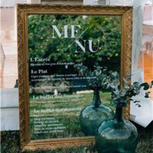 Debie Dreams ORGANISATION MARIAGE DORDOGNE Menu Miroir