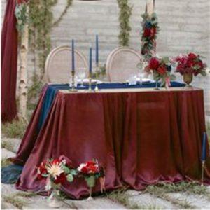 Debie Dreams ORGANISATION MARIAGE DORDOGNE Nappe Rect Bourgogne